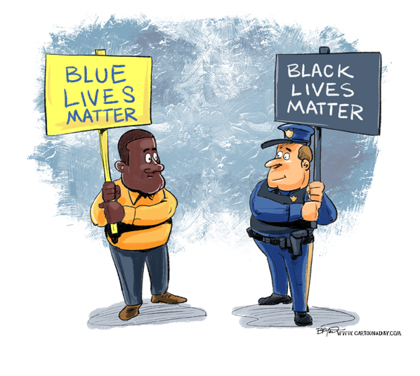 People In Blue Are Good People Too