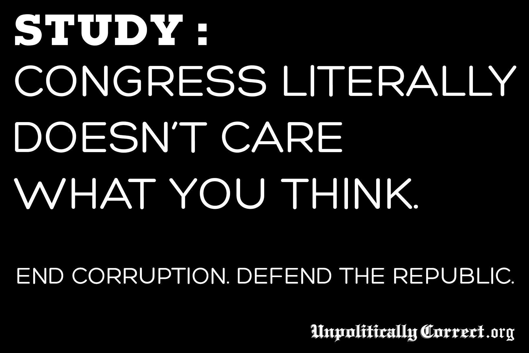 Does Congress Even Care What We Have To Say?