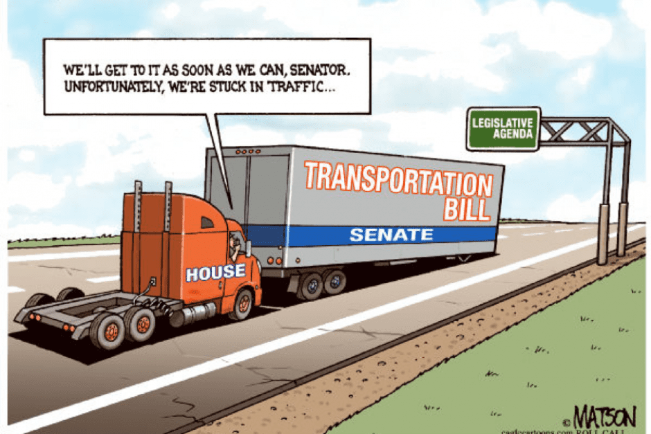 IT ONLY TAKES $50 BILLION TO START A $2 TRILLION TRANSPORTATION BILL