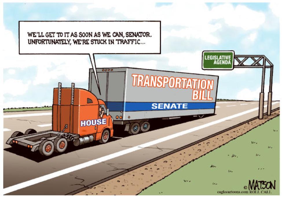 IT ONLY TAKES $50 BILLION TO START A $2 TRILLION TRANSPORTATION BILL