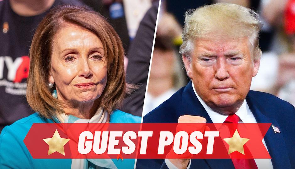 Trump Sets Fire to Pelosi's Hair