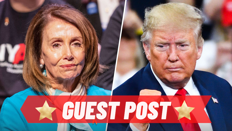 Trump Sets Fire to Pelosi's Hair